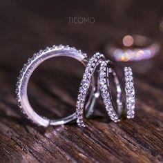2PCS Platinum Plated X Large Round Bling Rhinestone Diamante Shiny Hoop Earrings