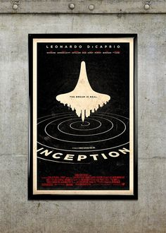 Inception 11x17 Movie Poster by adamrabalais on Etsy, $20.00