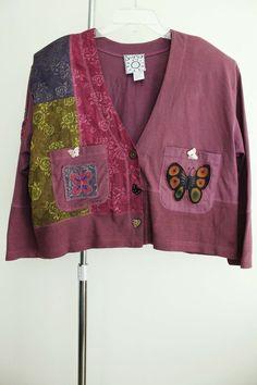 Surya jacket lagenlook artsy art to wear that matches blush pink nothing sz OS #Surya #BasicJacket