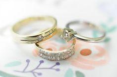 Intricate Engagement Ring and Simple Wedding Rings |  http://brideandbreakfast.ph/2014/08/26/whimsically-wonderful/#more-36189 | Photographer: Nez Cruz