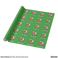 Santa Name Wrapping Paper. Personalize this Santa wrapping paper with your child's name! What a special way to wrap a gift for a child so that they know Santa delivered their presents special for them! Unique Wrapping Paper, Wrapping Paper Design, Gift Wrapping, Paper Child, Santa Letter, Holidays With Kids, White Elephant Gifts, Kid Names, Christmas Traditions