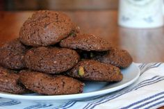 The title of this recipe says it all. Cakey, fudgy, nutty and sweet, these cookies are prefect for dunking in some plant based milk.