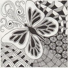 zentangles 3100 | For The Diva's weekly challenge #16- Mooka… | Flickr