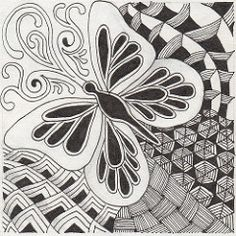 zentangles 3100 | For The Diva's weekly challenge #16- Mooka… | Flickr