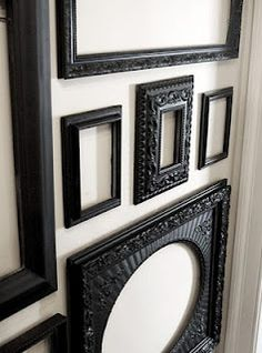 Chunky Black Frames Lt 3 Picture Victorian