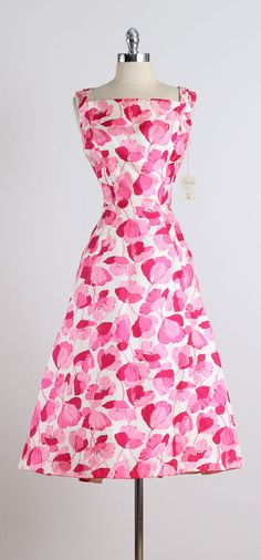 1950s Estevez for Grenelle Poppy Print Dress image 10