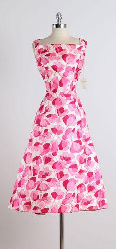 1950s Estevez for Grenelle Poppy Print Dress image 10