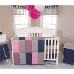 Trend Lab® Perfectly Pretty 3-Piece Crib Bedding Set - buybuyBaby.com