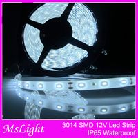 16FT 3014 LED Strip Waterproof 5M 600 SMD White Epoxy IP65 8mm width 12V DC , Led Light Strip brighter than 3528 5050 SMD,Neon