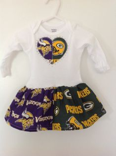 Green Bay Packers and Minnesota Vikings House by quiltsbykym