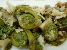 Weekday Vegetarian: Fiddleheads with Artichokes, Mushrooms and Wild Leeks : TreeHugger