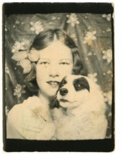 Featured image is reproduced from Making Pictures Vintage Dog, Vintage Girls, Vintage Photographs, Antique Photos, Vintage Magazine, Vintage Photo Booths, Make Pictures, Dogs And Kids, Portraits