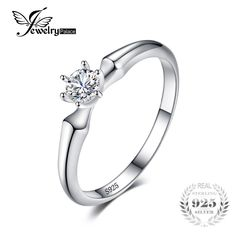 JewelryPalace Classic Wedding Solitaire Ring For Women Pure 925 Sterling Silver Simple Wedding Jewelry Fashion Gift Wedding Jewelry Simple, Simple Weddings, Buy Jewellery Online, Engagement Jewelry, Solitaire Ring, Jewelery, Jewelry Watches, Fine Jewelry, Fashion Jewelry