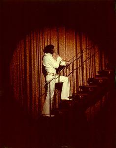 Elvis wearing the the rare Cobweb Suit at Del Webb's Sahara Tahoe Hotel, Lake Tahoe, Stateline, NV, August 1971 - Photo by ©Judy Cherry Elvis Presley Concerts, Elvis In Concert, Elvis Presley Photos, Rock N Roll, Tahoe Hotels, Jungle Room, White Lake, King Of Music, Baddies