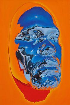 Chrome Face Masks and Hyperrealistic Oil Portraits by Kip Omolade Chrome Face Masks and Hyperrealistic Oil Portraits by Kip Omolade, Contemporary ART Art Inspo, Kunst Inspo, Inspiration Art, Graphic Design Inspiration, Design Poster, Art Design, Arte Hippy, Brooklyn, Oil Portrait