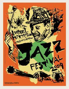 Lionel Hampton International Jazz Festival 2009 - University of Idaho Jazz Festival, Festival Posters, Concert Posters, Music Posters, Jazz Artists, Jazz Musicians, Music Artists, Jazz Poster, Blue Poster