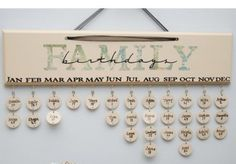 Family Birthday Board- Perfect way to remember your loved ones birthday and decorate your house!