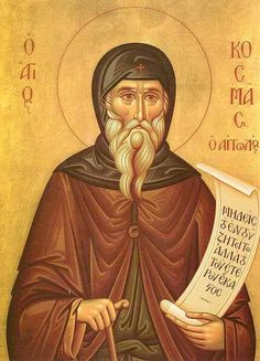 Repose of the New-Hieromartyr Cosmas of Aitolia, Equal of the Apostles - Orthodox Church in America Byzantine Icons, Byzantine Art, Famous Freemasons, Religious Symbols, Orthodox Christianity, Orthodox Icons, Medieval Art, Saints, August 24