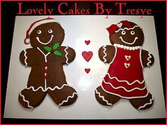 GIANT gingerbread cookies decorated with fondant and buttercream