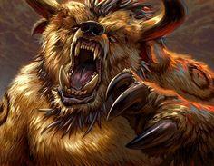 Tauren druid, rocking bear form.