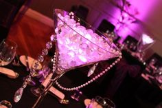 margarita glass centerpieces - Google Search