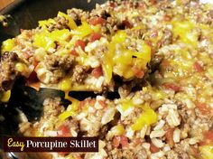 Easy Porcupine Skillet   Aunt Bee's Recipes