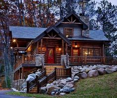 แต่งหน้าบ้านด้วยหินขนาดต่างๆ