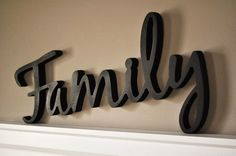Etsy Word Art Wood 3D Cutout Family by MRC Wood Products