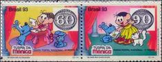 selos brasileiros Turma da Monica com olho de boi