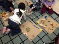 Constructing by exploring 2 D shapes and 3 D figures!