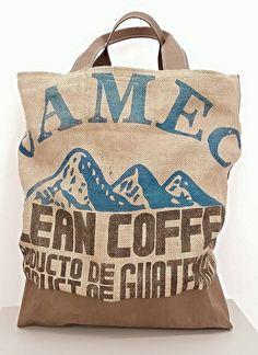 Tasche aus SnapPap und Kaffeesäcken