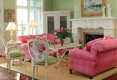 Pink Sofa Design Ideas, Pictures, Remodel, and Decor - page 11