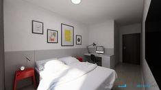 Dizajn spálne s pracovným kútikom Interior Design, Bedroom, Furniture, Home Decor, Design Interiors, Room, Homemade Home Decor, Home Interior Design, Interior Architecture