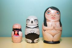 Anatomy nesting dolls, via Carolee Sherwood on Facebook