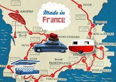 """pierre-feuille-ciseaux: Cartes postales """"Made in France"""" pour Nouvelles images • citroen DS club"""