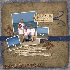 Lake Michigan - Reminisce Digital Scrapbook Layout