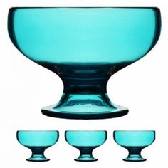 Sagaform Happy Days Serving Bowl, Pack of Blue