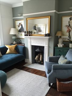Victorian Decor Mid Terrace Narrow Living Room, Cottage Living Rooms, Living Room Grey, Interior Design Living Room, Living Room Designs, Living Room Decor, Living Room With Stove, Living Room With Fireplace, Victorian Terrace Interior