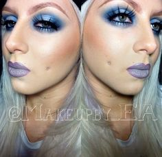 Makeup. Instagram @ makeupby_ea . Lip Combo: MAC NightMoth lip liner, OCC Lip Tar in Sebastian, topped with MAC Electra eyeshadow