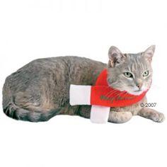 Bufanda Navideña en color blanco y rojo para gatos y perros. Una verdadera atracción para