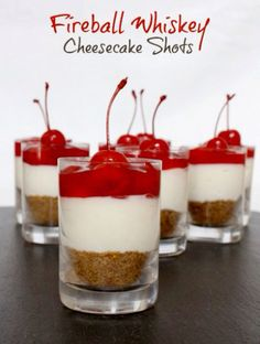 Fireball Cheesecake Shots