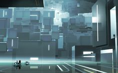 Tron: Uprising concept art and storyboards. I took the liberty of cropping two of Alberto Mielgo's