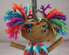 Hair ideas for stuffed dolls - Google Search