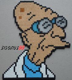 Hubert Farnsworth - Futurama Hama beads by Sidorus00 (H= 28 cm L= 22 cm)