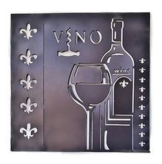 Metal Wall Sculptures Wine Vino Wall Art Fleur-de-lis