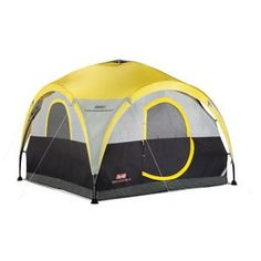Coleman® tents make camping easier. 4 person dome tents like the Coleman® All Day Shelter & Tent sets up in about 15 minutes. Best Tents For Camping, Tent Camping, Camping Gear, Camping Hacks, Outdoor Camping, Camping Essentials, Backyard Camping, Camping Cabins, Camping Supplies