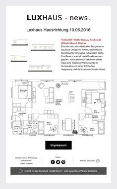 Hausrichtung Bauhaus - Bungalow in Dessau Kochstedt  10.06.2016 !