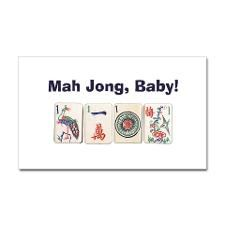 funny photos of mah jong | Mah Jong Baby Rectangle Sticker for