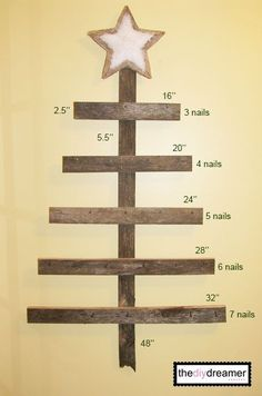 TheDIYDreamer.com - How to make a wall mounted advent calendar.
