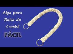 Alça de Crochê Rabo de Gato para Bolsa FÁCIL!! Asa a Crochet - YouTube Chevron Purse, Crochet Handles, Crochet Bag Tutorials, Bead Sewing, Purses And Bags, Stitch, Beads, Knitting, Bracelets